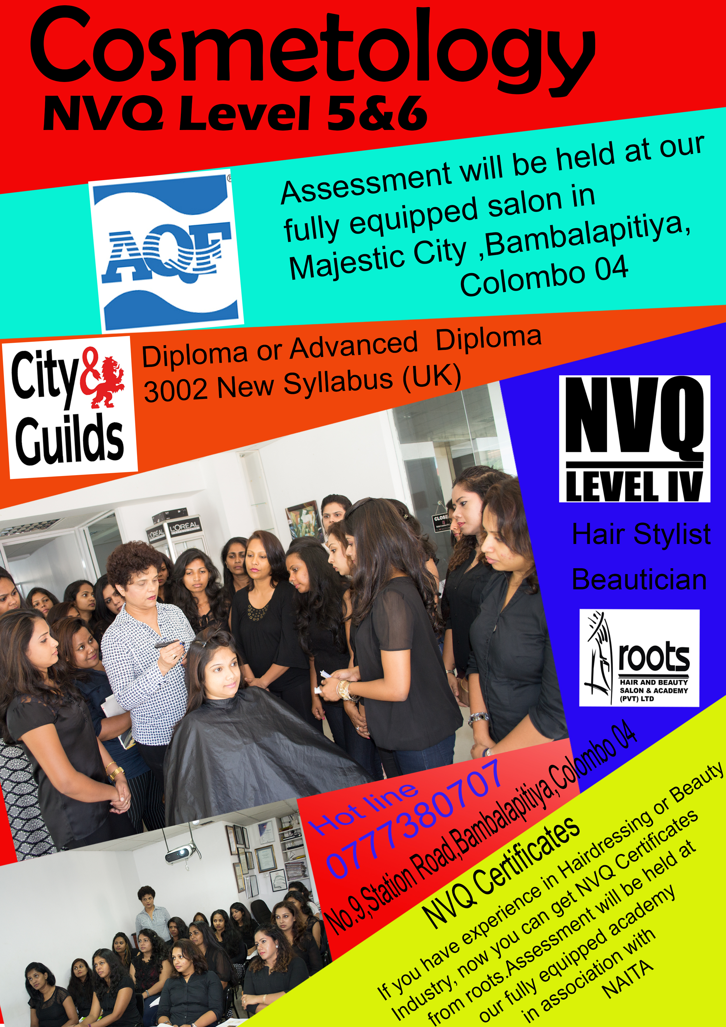 Cosmetology - NVQ Level 5&6 | Roots Hair and Beauty Salon & Academy